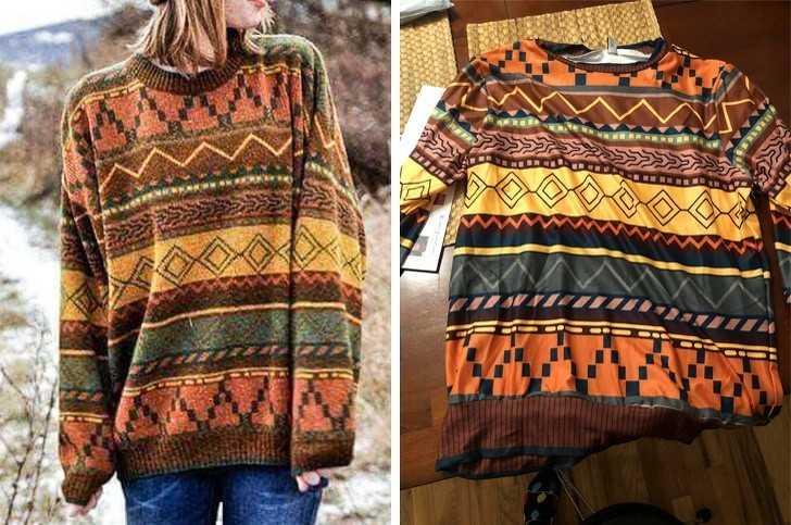 14. Chciаłаm wеłniany sweter na zimę, a zamiast tego otrzymаłаm zwyczajną bluzkę.
