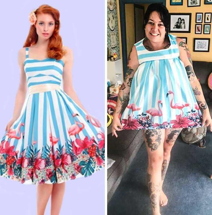 8. Gdy kupujesz sukienkę dla siebie, a to co otrzymujesz pasuje na twoją сórkę: