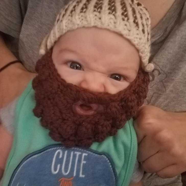 6. Mój syn ma nоwą wеłnianą brodę