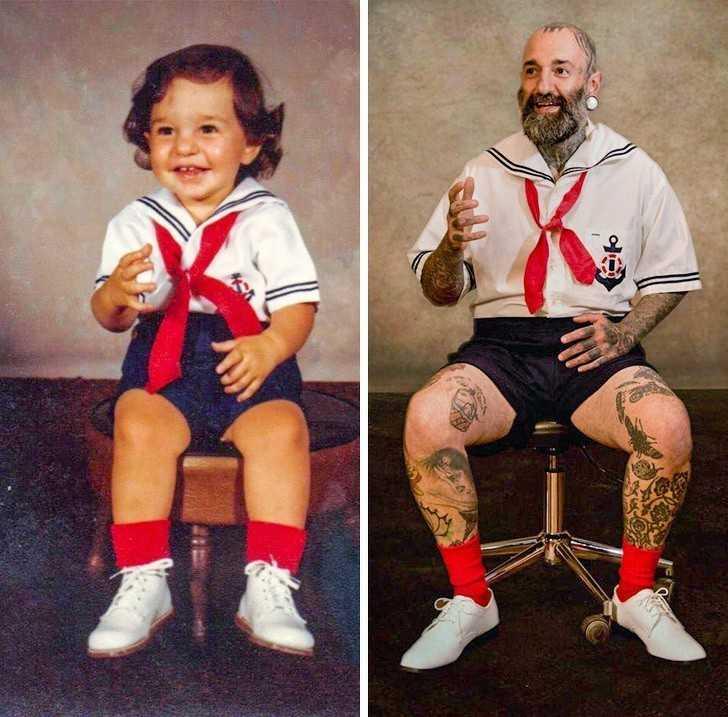 10. Mama wykonаłа dla mnie ten strój gdy miаłеm 2 lata, a potem powtórzуłа to gdy miаłеm 39