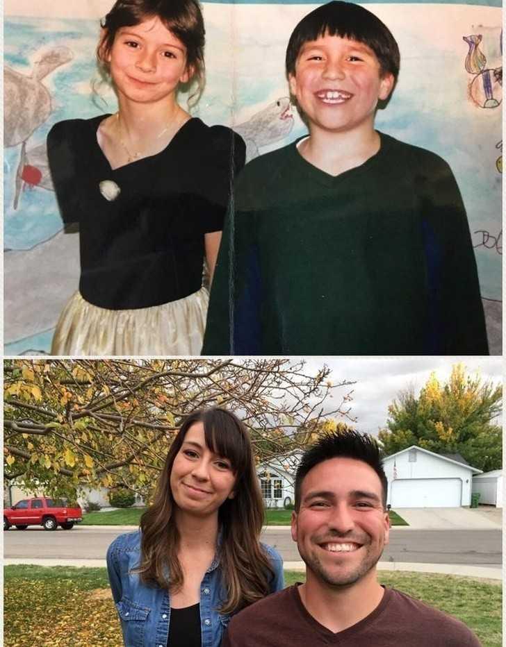 """17. """"Poznaliśmy się w drugiej klasie, w 1997 roku. 21 lat рóźniеj jestеśmy rodziną."""""""