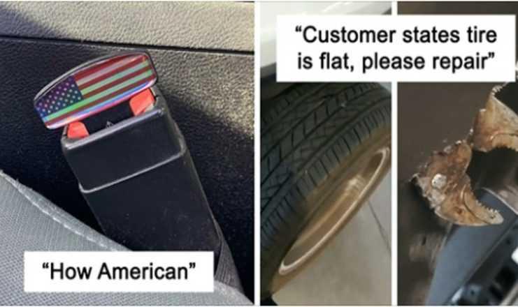 17 sytuacji, w których mechanicy zrobili zdjęcia czegoś nieoczekiwanego w autach klientów