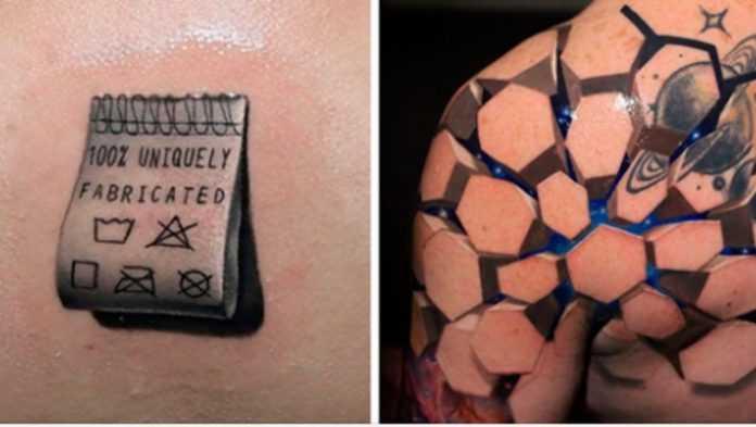 Tatuaże 3D które zapierają dech w piersiach. Ciężko uwierzyć, że te dzieła powstały na skórze