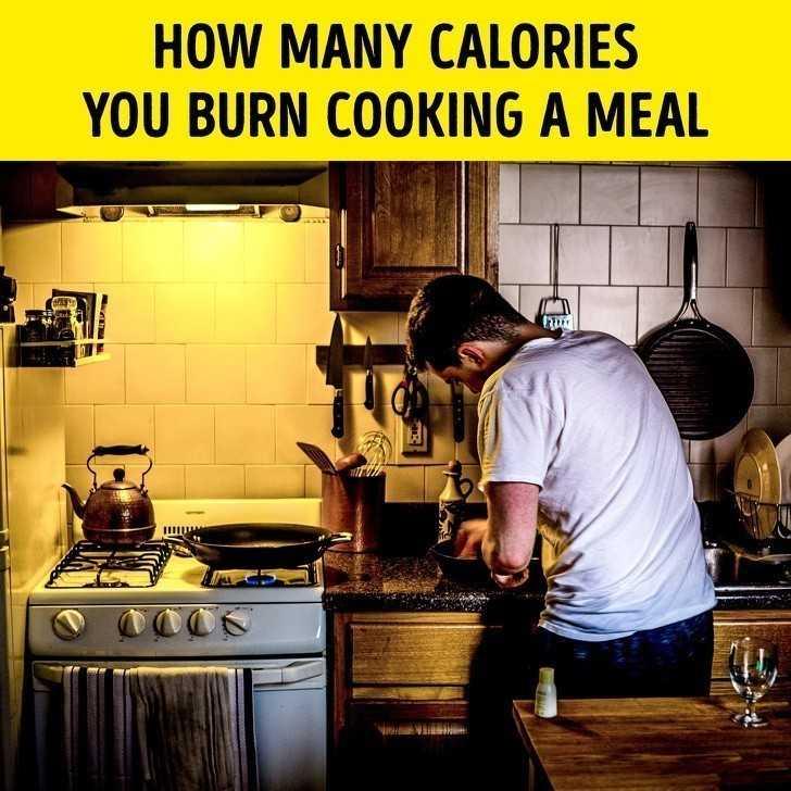 9. Ile kalorii spalisz poprzez gotowanie