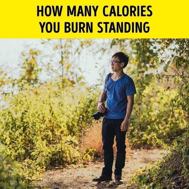 10. Ile kalorii spalisz poprzez stanie w miejscu