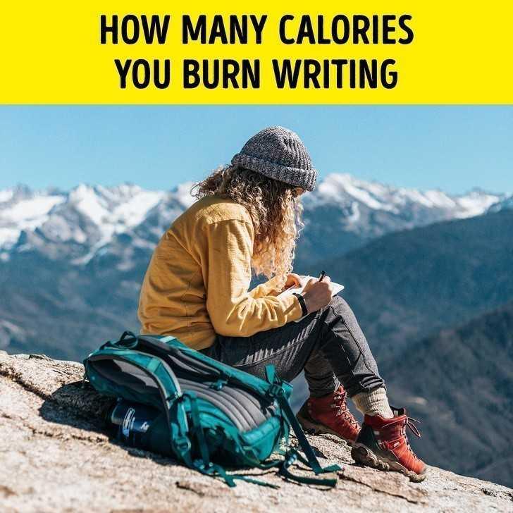 1. Ile kalorii spalisz poprzez pisanie