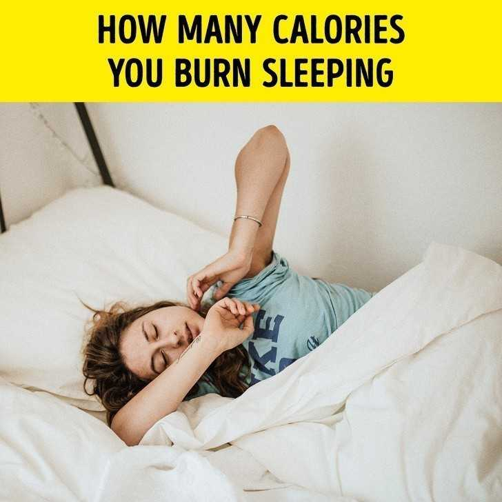 6. Ile kalorii spalisz poprzez spanie