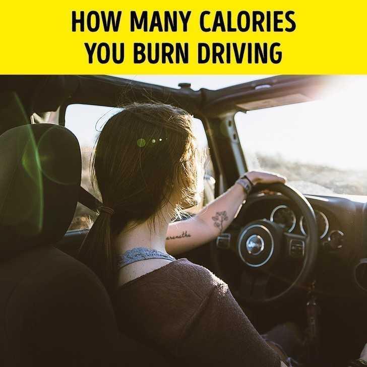 7. Ile kalorii spalisz poprzez kierowanie autem