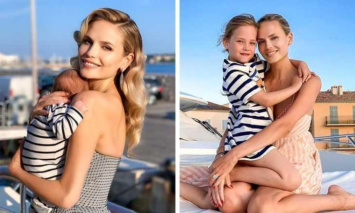 2. Natasha Poly z synem i сórką
